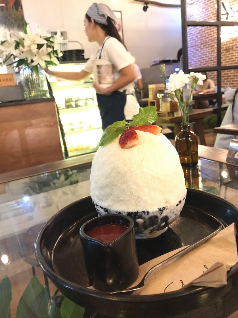 Strawberry Cheesecake Pingsu(600円)