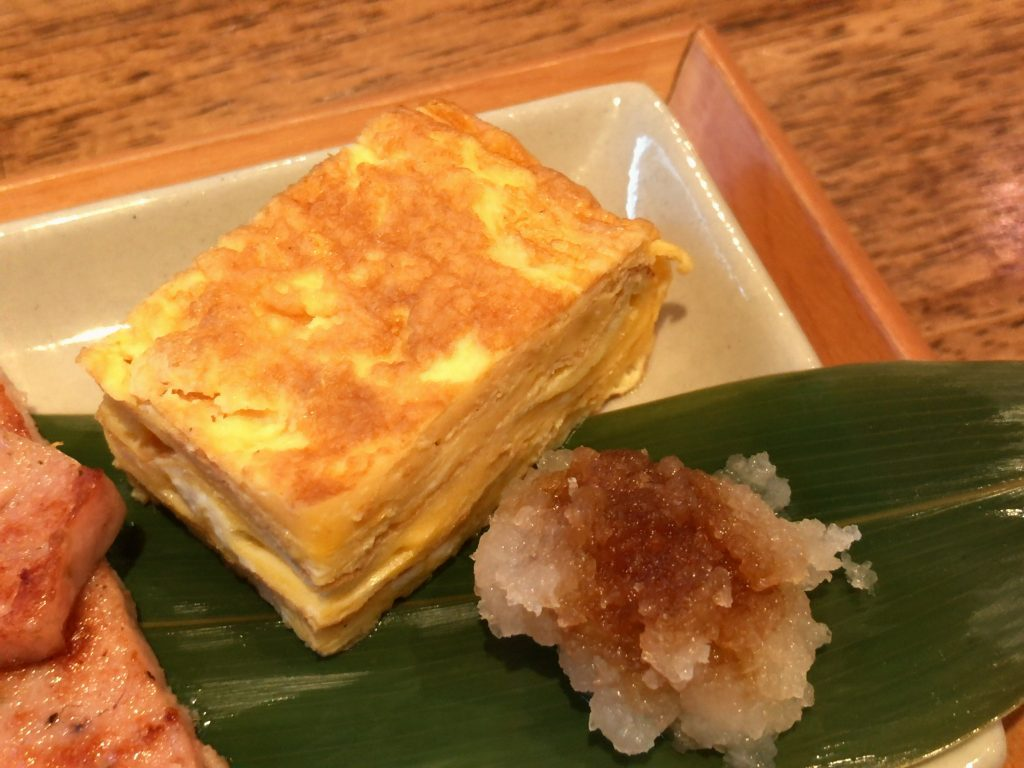 HAGISOのモーニング:卵焼き(リアルオーガニック卵使用)