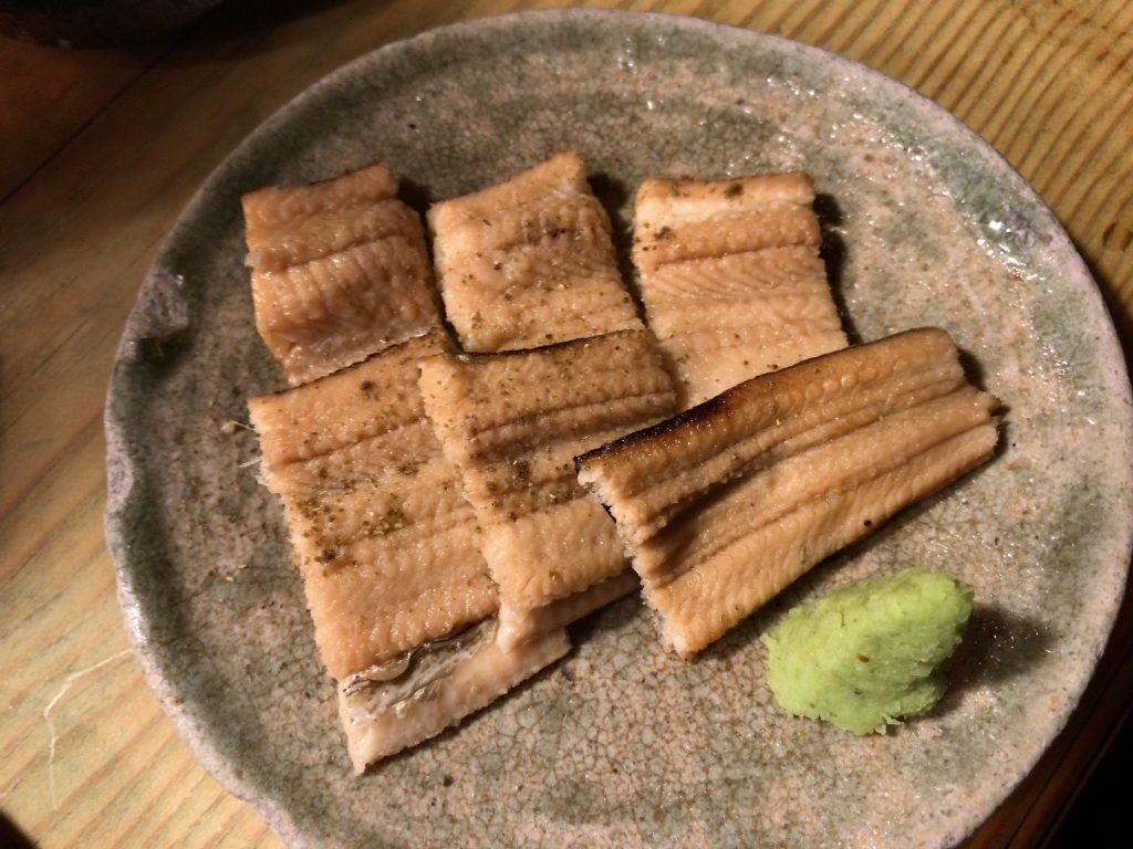 煮穴子さっとあぶり(850円)