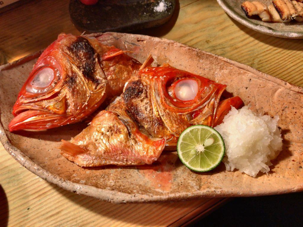 金目鯛かぶと塩焼き(1,000円)