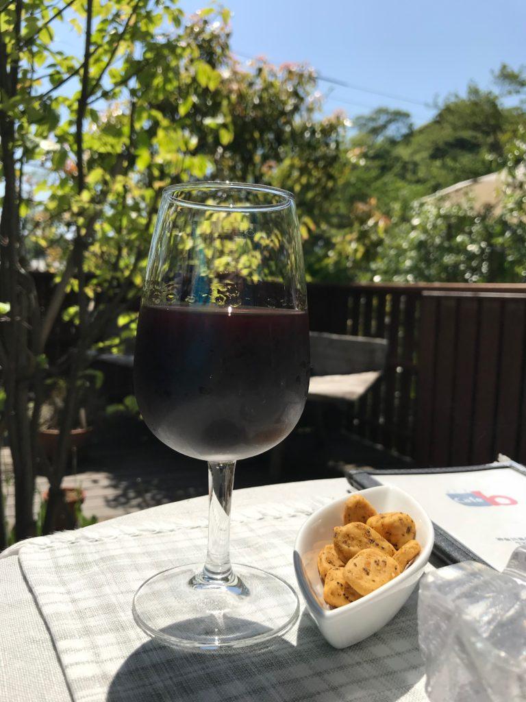 グラスワイン(赤)500円