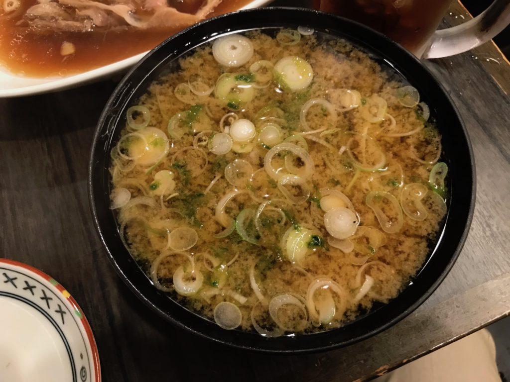 あおさ汁(200円)
