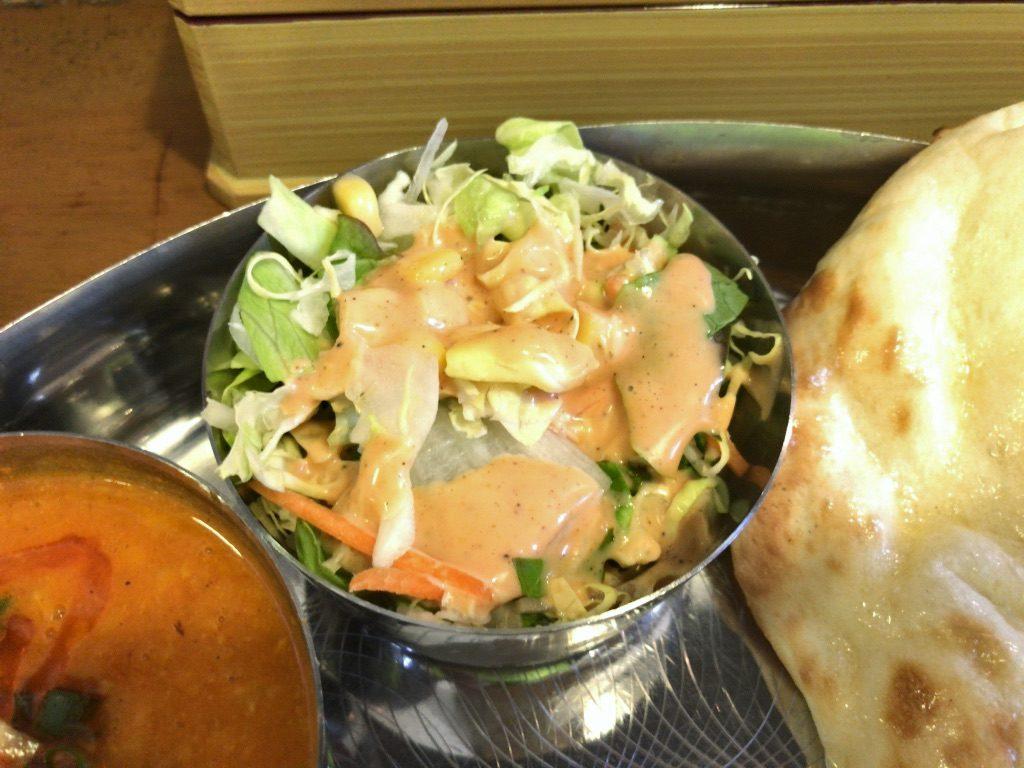 シータラのランチセットのサラダ