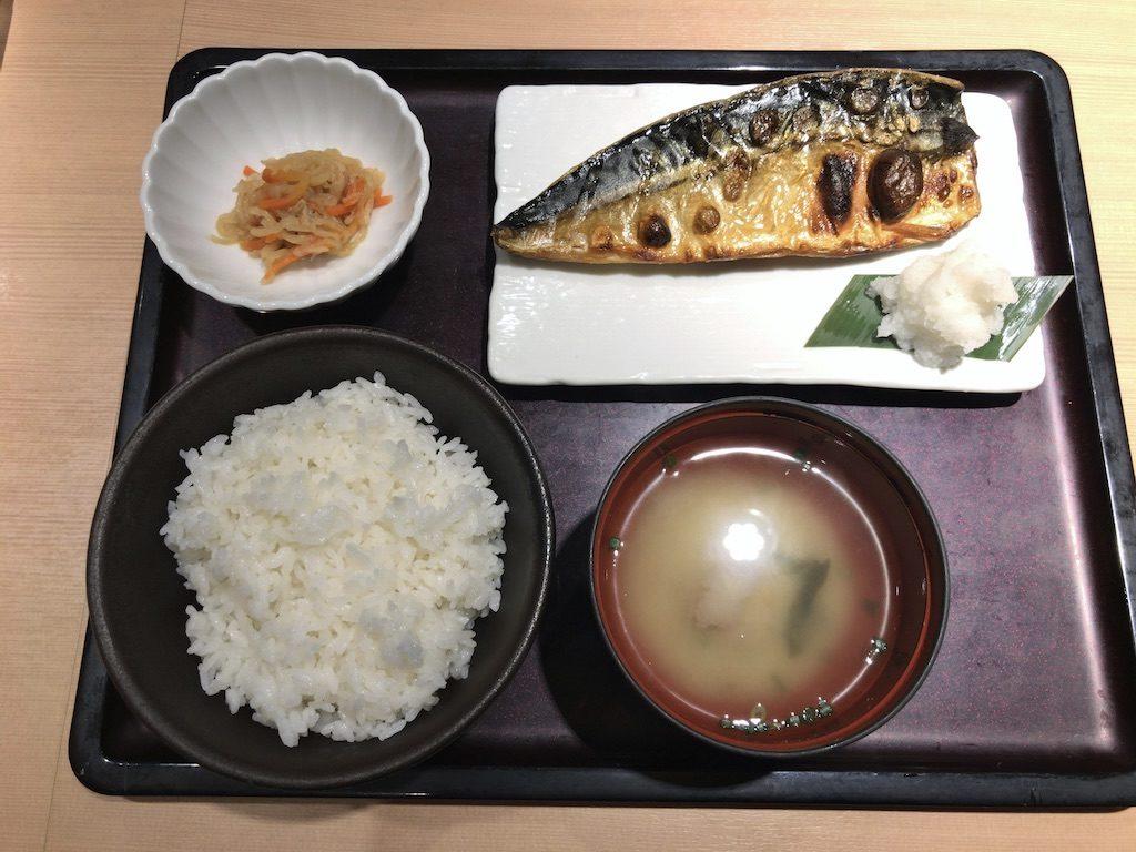 やまやの塩サバ定食(1,000円)