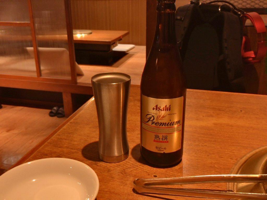 アサヒプレミアム熟選(中瓶:650円)