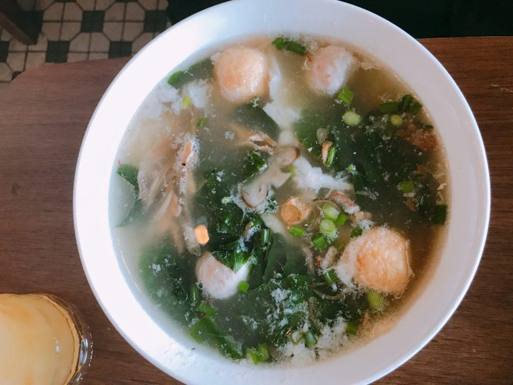 【おまけ】Auntie Lim CafeのMEE HUEN KUEY(SOUP)(270円)