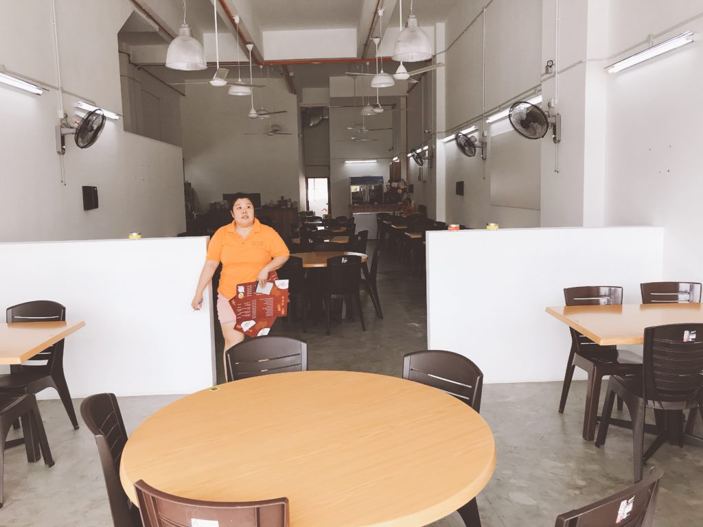 restoran yang shenの店内