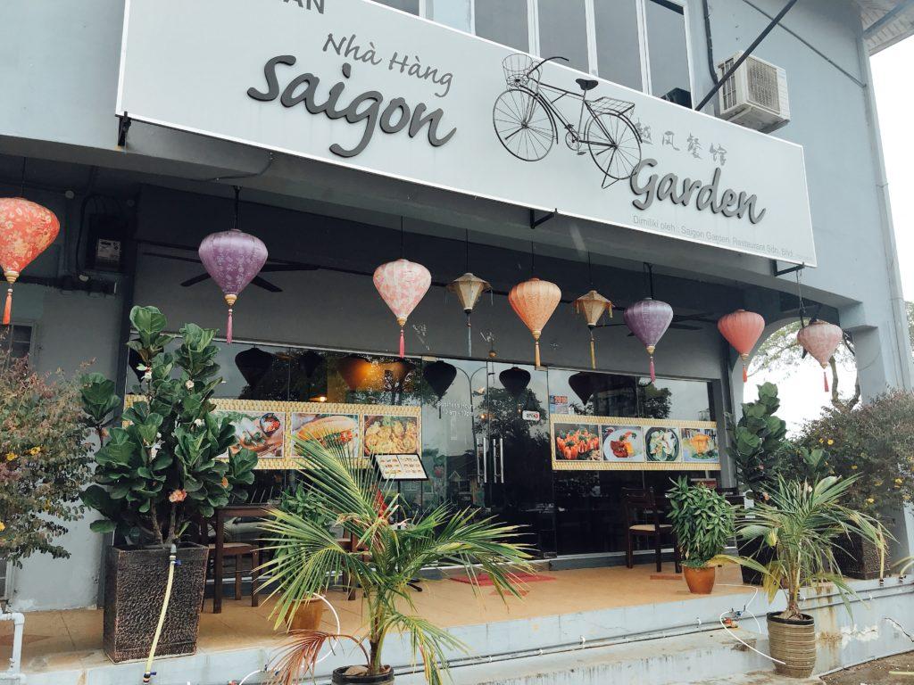ジョホールバルのベトナム料理店Saigon Gardenの外観