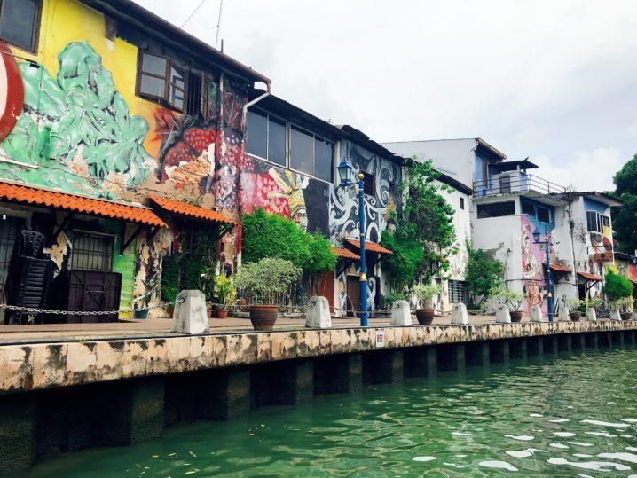 【マラッカ観光おすすめ】リバークルーズでアートな街並みを一望できる