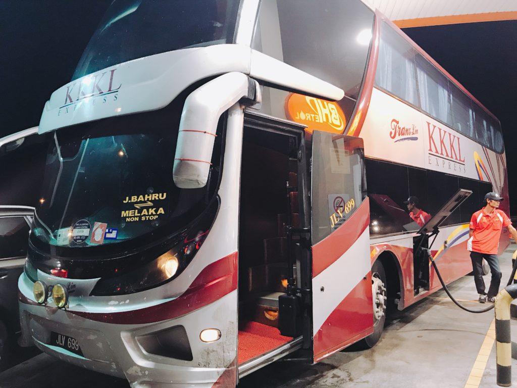 Melaka Sentralのバスチケットの購入方法