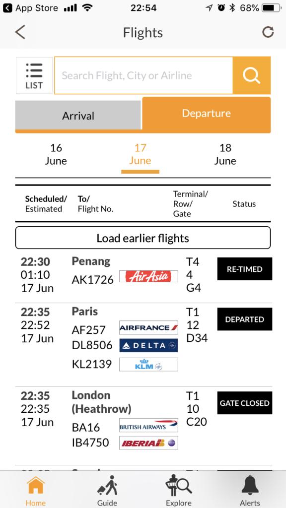 Early Check-in Loungeでダウンロードしておきたいチャンギ空港公式アプリiChangi