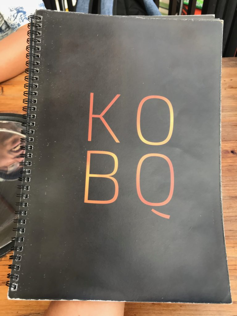 KOBQのメニュー