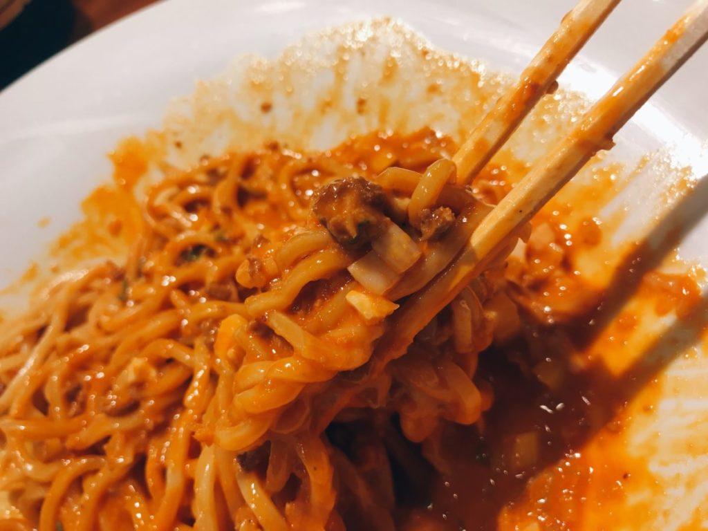 正宗汁なし担々麺(4辛)