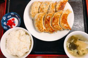【亀有】青山餃子房の焼き大餃子定食680円が美味しい!