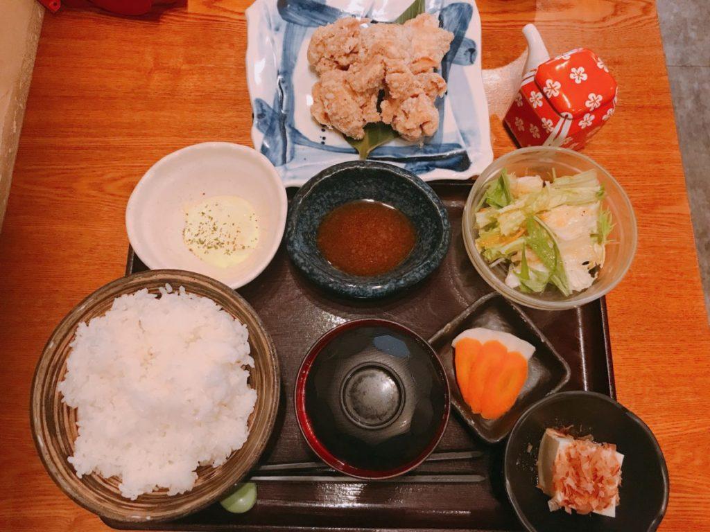 北千住ここのつのWソース唐揚げ定食(780円)ご飯大盛り無料