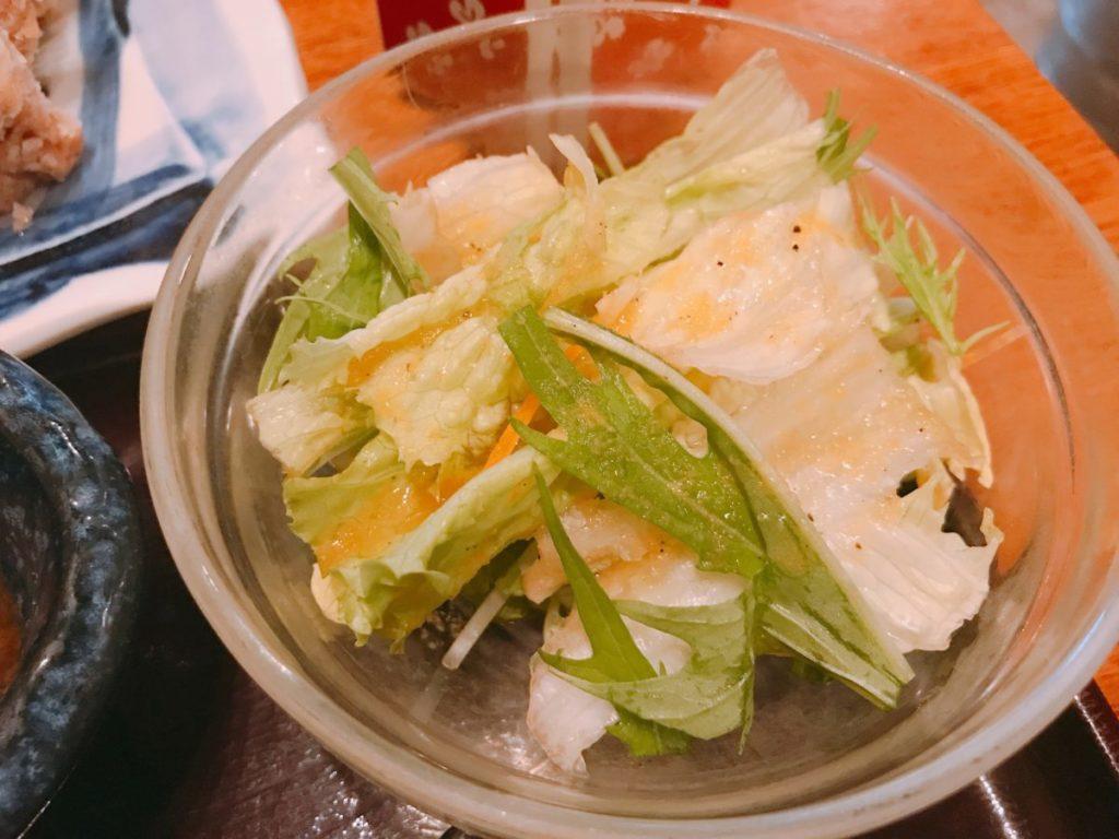 ここのつのセットのサラダ
